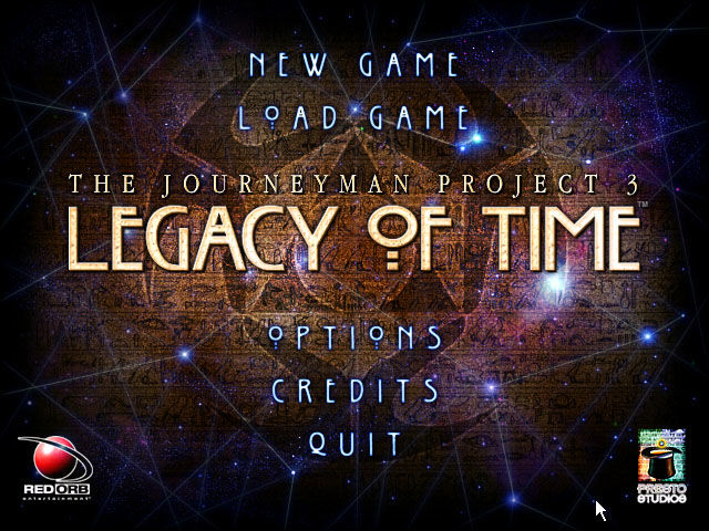 The Journeyman Project 3: Legacy of Time Windows Title screen