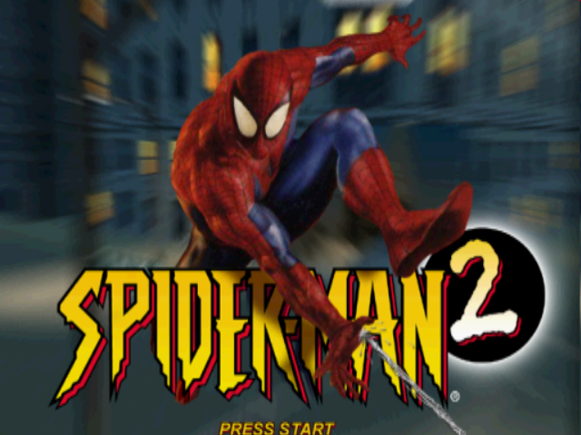 Spider-Man 2: Enter: Electro PlayStation Title screen.