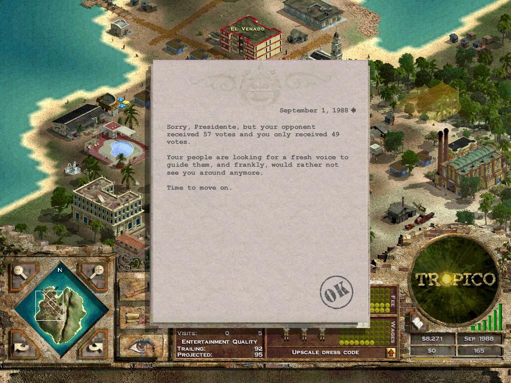 Tropico Windows Aww, I lost again...