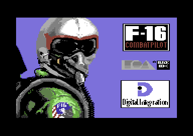 F-16 Combat Pilot Commodore 64 Title screen