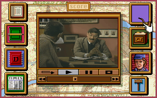 Sherlock Holmes: Consulting Detective DOS Dropping by Scotland yard.