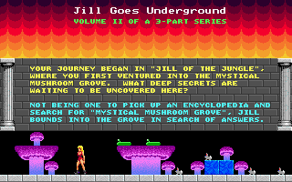 Jill of the Jungle: Jill Goes Underground DOS The story