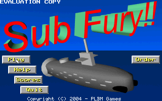 Submarine Fury DOS Title screen
