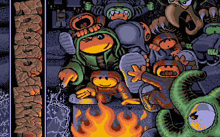 Troddlers DOS Title screen