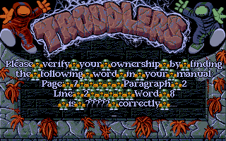 Troddlers DOS Copy protection
