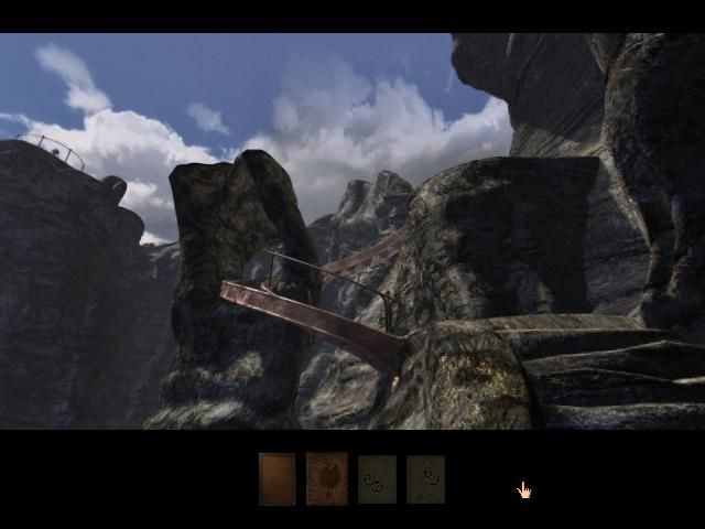 Myst III: Exile Windows Huge rocky cliffs