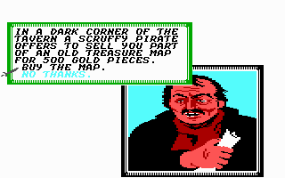 Sid Meier's Pirates! Commodore 64 Hmmm... do you trust this guy or not?