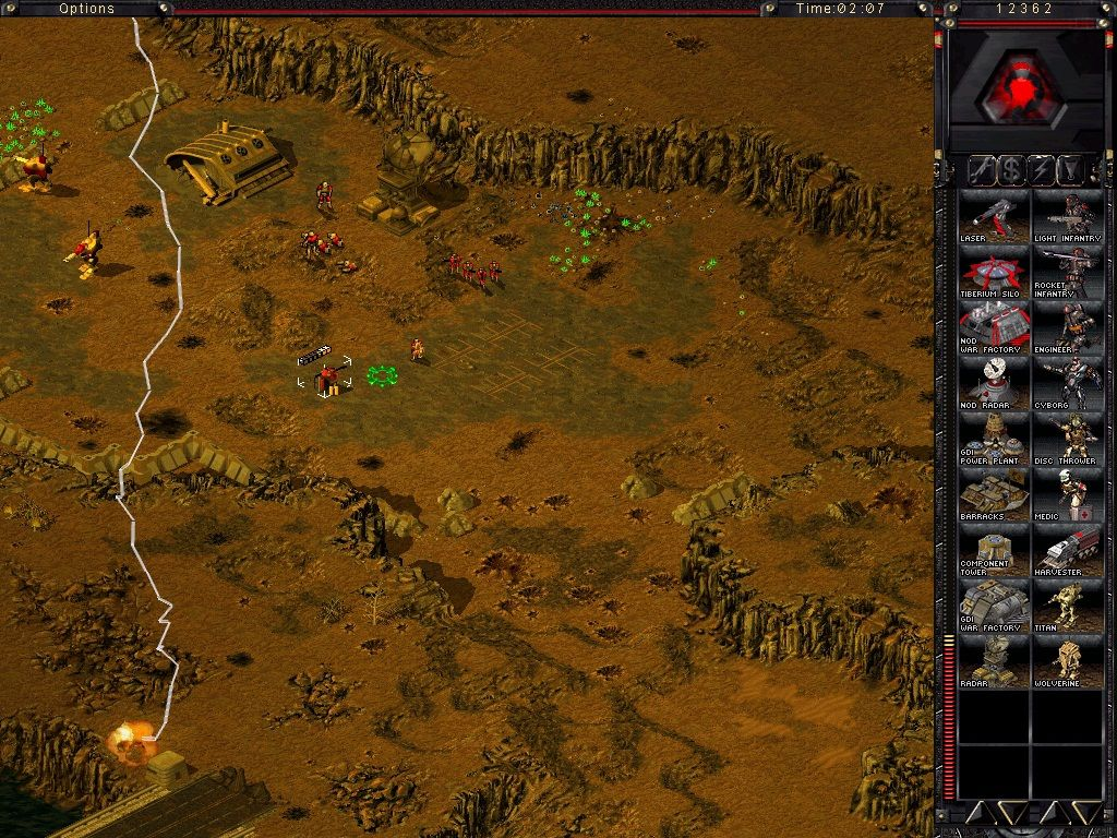 Command & Conquer: Tiberian Sun Windows During an Ion Storm, lightnings can damage your units and buildings.