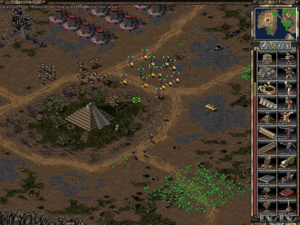 Command & Conquer: Tiberian Sun Windows Units gain experience and grow stronger by killing enemies.