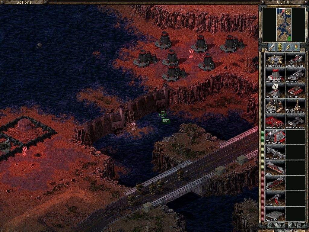 Command & Conquer: Tiberian Sun Windows That dam is our mission target.