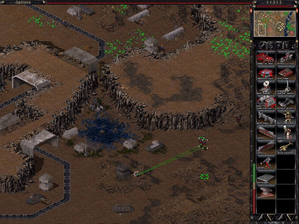 Command & Conquer: Tiberian Sun Windows Find those hidden crates and you will get money or your units repaired.