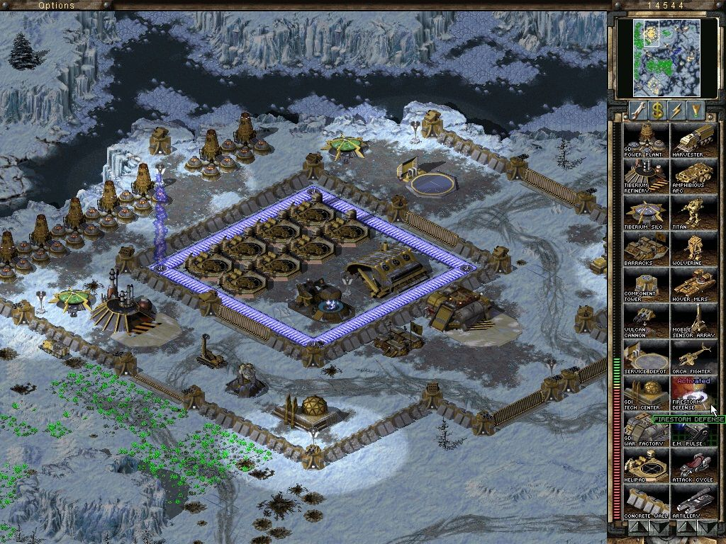 Command & Conquer: Tiberian Sun Windows Firestorm defense activated.