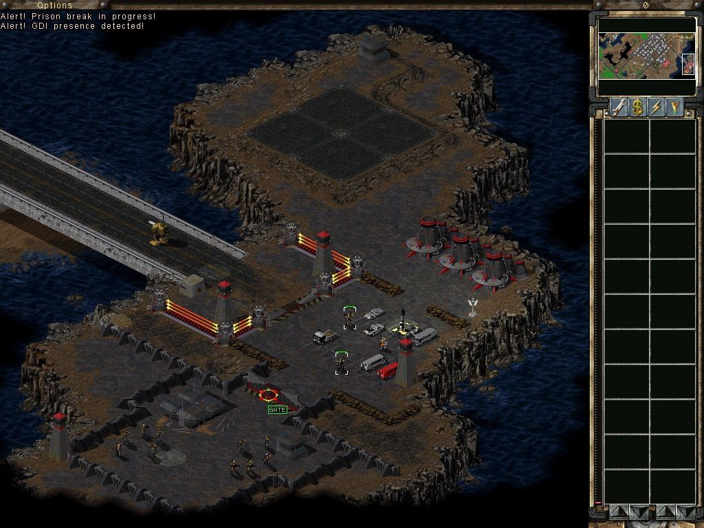 Command & Conquer: Tiberian Sun Windows Umagon and the Ghost Stalker are liberating prisoners.
