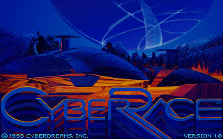 CyberRace DOS Title screen