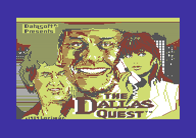 The Dallas Quest Commodore 64 Splash screen