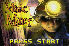 Manic Miner Game Boy Advance Title Screen
