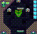 Devilish Game Gear This green smiling dude will swallow the ball and then shoot int into any direction he likes. Gotta respect his human rights, I guess