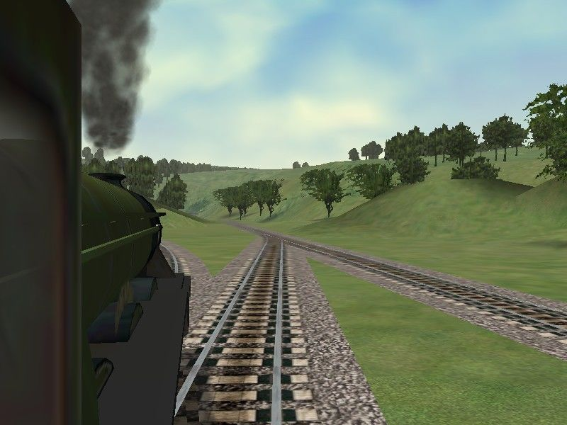 Microsoft Train Simulator Windows Looking out the window of the Flying Scotsman.