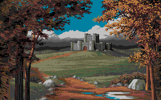 Defender of the Crown Atari ST A castle.