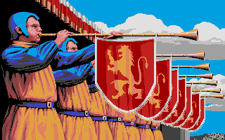 Defender of the Crown Atari ST Play those trumpets, guys!