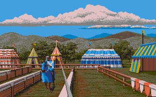 Defender of the Crown Atari ST Your goal: knock the other guy off of his horse!
