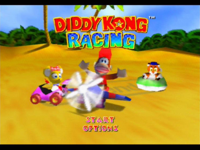 Diddy Kong Racing Nintendo 64 The title screen