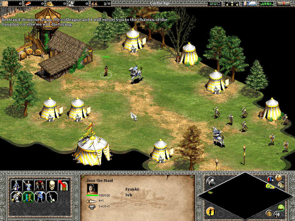 Age of Empires II: The Age of Kings Windows Joan of Arc on her way to Orleans