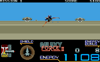 Galaxy Force II Atari ST Scene 4 is barren and hostile