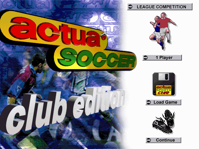 Actua Soccer Club Edition DOS Title screen