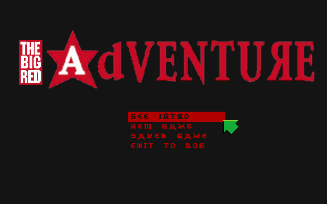 The Big Red Adventure DOS Main game screen