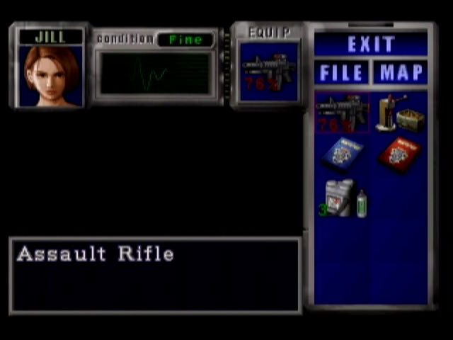 Resident Evil 3: Nemesis Dreamcast A glimpse of the status screen