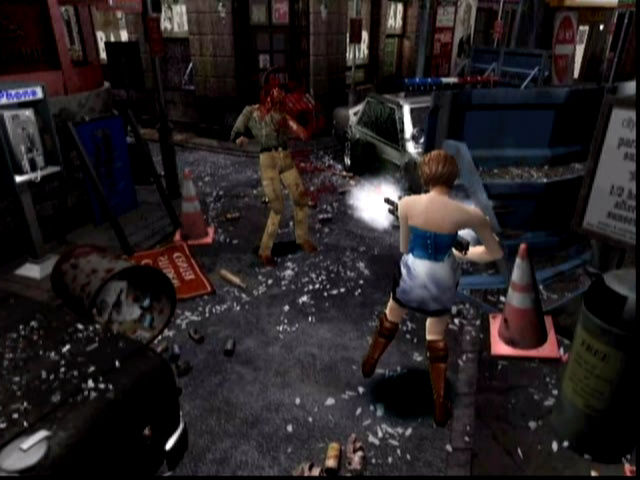 Resident Evil 3: Nemesis Dreamcast Happiness is... mowing down zombies with a fully automatic weapon