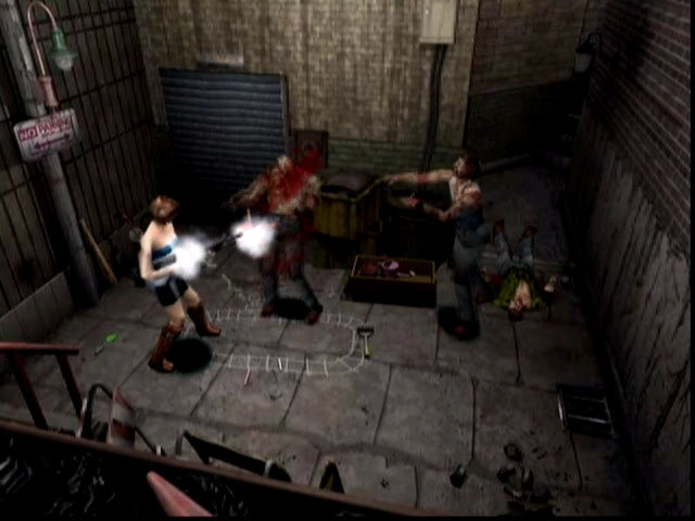 Resident Evil 3: Nemesis Dreamcast More hot zombie action in a back alley