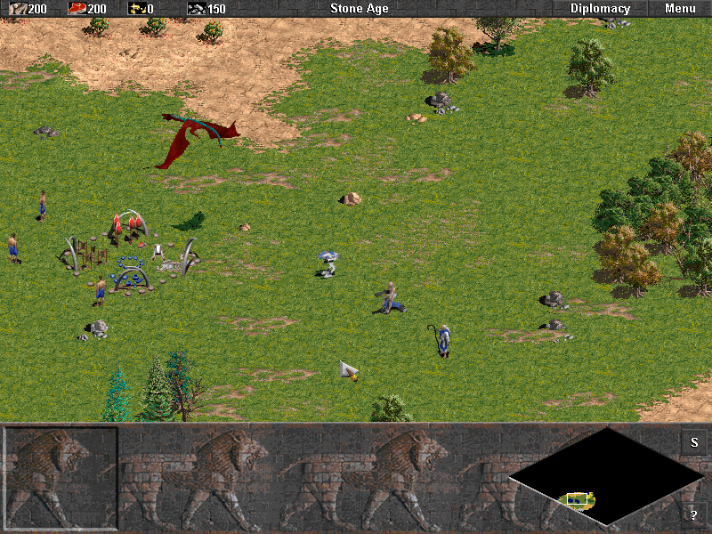Age of Empires: The Rise of Rome Windows Cheating around in this game; A tiny mecha, a baby in a trike and a priest who instead of converting summons a bolt of lightening on his foes. And the hawks were eaten by that huge dragon.