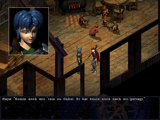 Septerra Core: Legacy of the Creator Windows The blue-haired girl is the hero of the game.