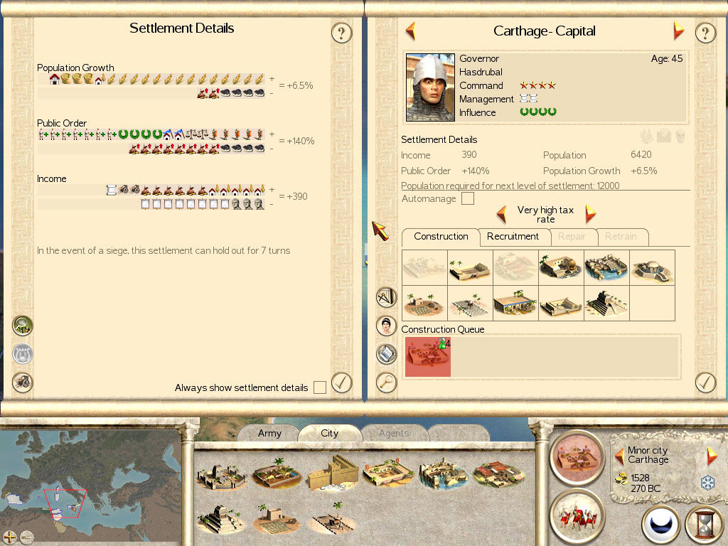 Rome: Total War Windows Details for Carthago