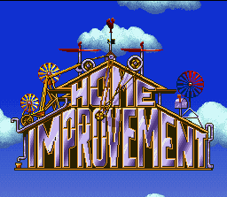 Home Improvement: Power Tool Pursuit SNES Title screen.