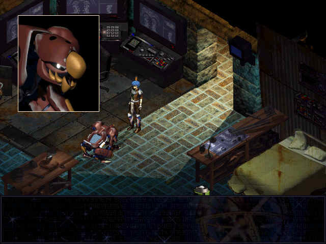 Septerra Core: Legacy of the Creator Windows When somebody talks to you, his face appear in the small square above.