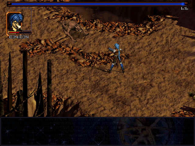 Septerra Core: Legacy of the Creator Windows A turn-based battle begins. Click on the face in the square to choose what you want to do.