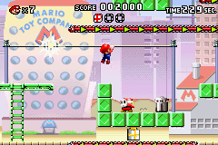 Mario vs. Donkey Kong Game Boy Advance Quickly shimmy across before the spark gets to you