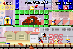 Mario vs. Donkey Kong Game Boy Advance Doing a hand stand is the best way to avoid the falling bricks