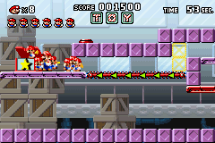 Mario vs. Donkey Kong Game Boy Advance A bonus level where you herd the mini Marios like Lemmings