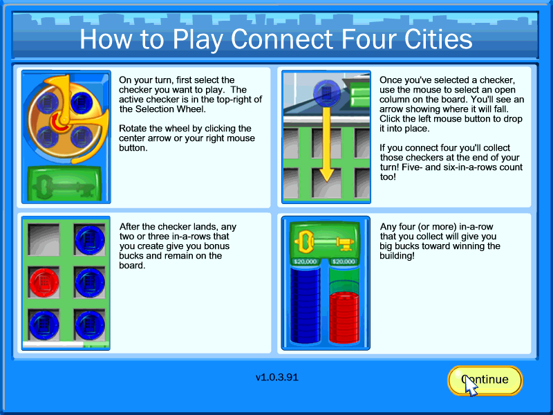 Connect Four Cities Screenshots For Windows Mobygames