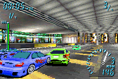 Need for Speed Underground Game Boy Advance Inside of a tunnel, the pilot of a Toyota Celica GT-S tries to avoid some rivals during a curve...
