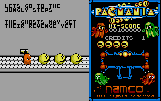 Pac-Mania Atari ST Let's go to the Jungly Steps