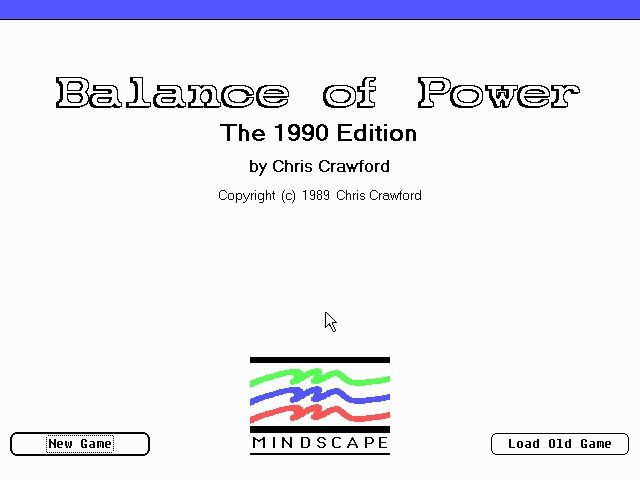 Balance of Power: The 1990 Edition DOS Opening Screen