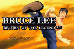 Bruce Lee: Return of the Legend Game Boy Advance Title screen