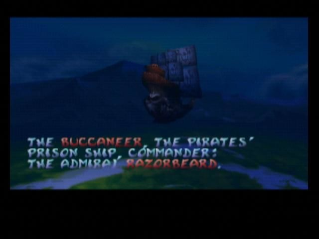 Rayman 2: The Great Escape Nintendo 64 Razorbeard's flying pirate prison ship