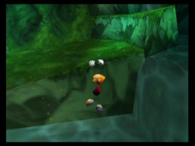 Rayman 2: The Great Escape Nintendo 64 Rayman can hang onto ledges to save himself from falling