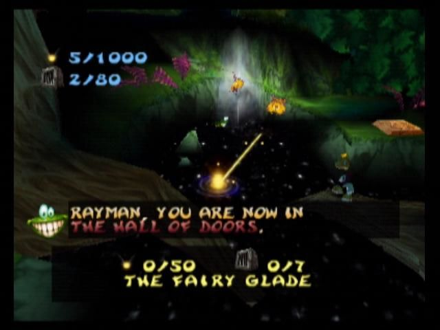 Rayman 2: The Great Escape Nintendo 64 This is the world map, more paths open as the game progresses